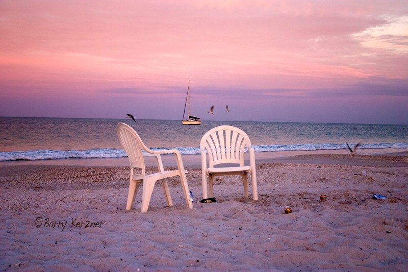 Chairs with Sailboat Sunrise