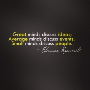 eleanor roosevelt - discuss
